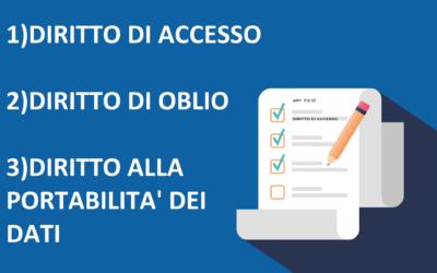 Diritto di accesso, diritto di oblio e diritto alla portabilità dei dati