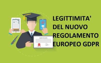 Legittimità del nuovo regolamento europeo GDPR